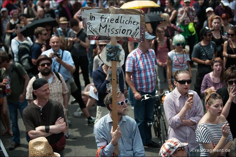 Blockupy Frankfurt - Protest gegen Polizeiaktion