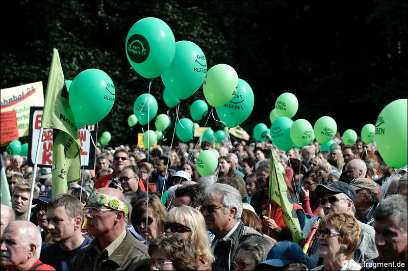 Besetzung des Mittleren Schloßgarten in Stuttgart