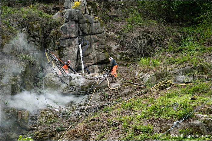 Felssicherungsmaßnahmen am Heidelberger Russenfelsen
