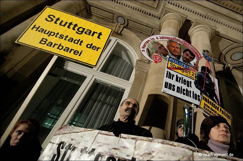 Stuttgart: 112. Montagsdemo gegen S21