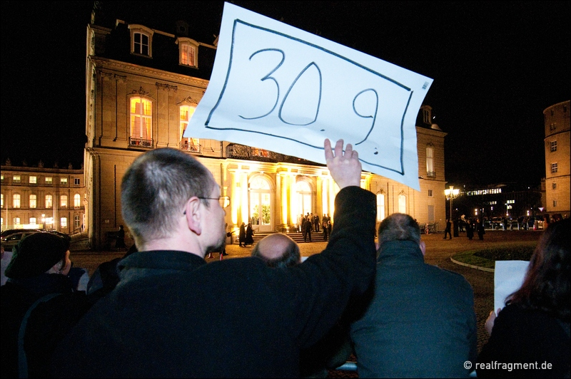 Neujahrsempfang der baden-württembergischen Landesregierung im Zeichen des S21-Protests